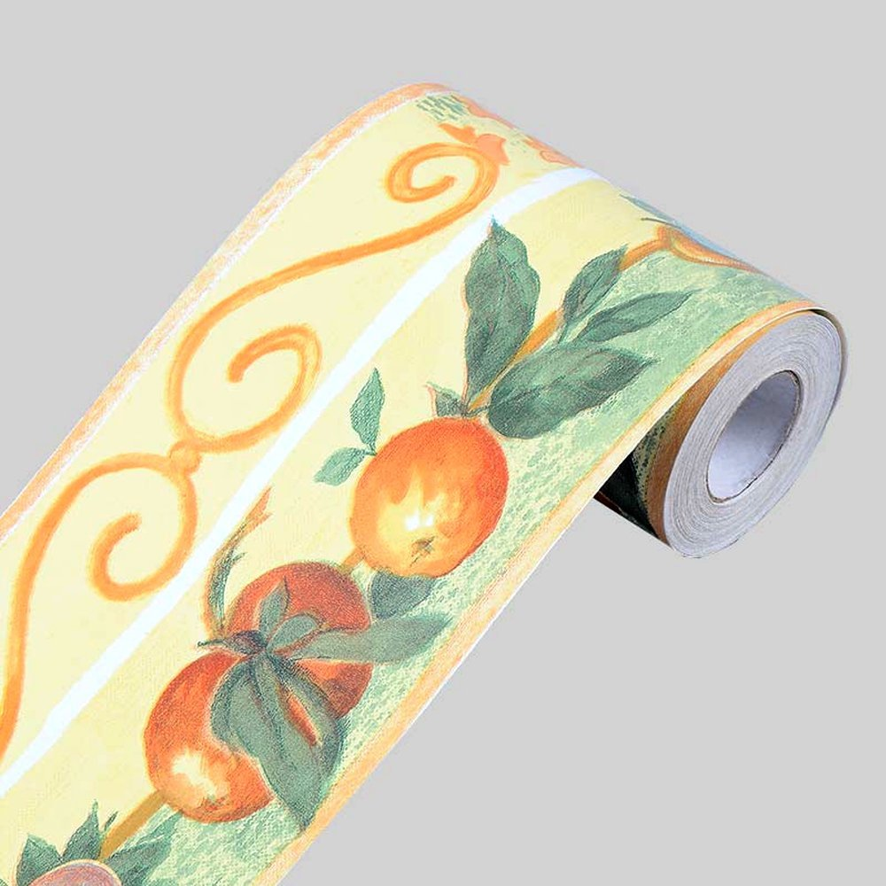 cheap wallpaper borders for kitchen, find wallpaper borders forget quotations · simplelife4u fruit orange wallpaper border self adhesive wall covering borders kitchen bathroom tiles decor sticker