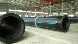 Plumbing Supplies HDPE PE100 350mm Plastic Pipe for Dredging / Drainage