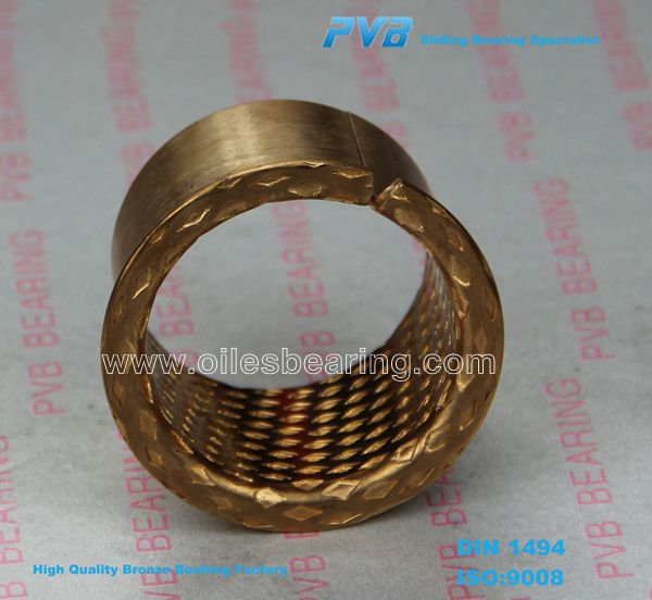 PRM657060 Sleeve Bronze Bush, WB700 WB800 Rolled Bearing, Oil Pokects Sliding Bearing
