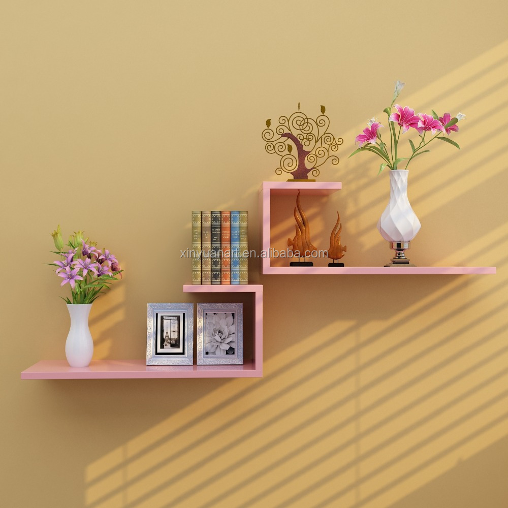 The Best Popular selling wood cube wall shelf decoration