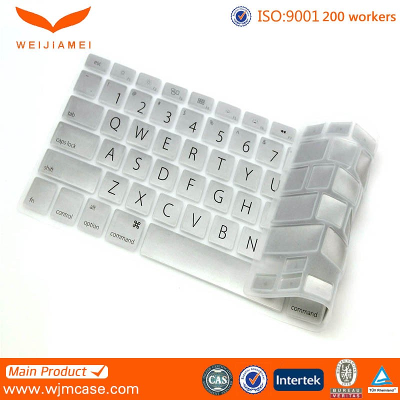 Ultra thin keyboard cover for macbook, oem ultra thin keyboard cover for macbook