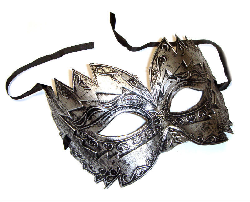 Mens Purple Venice Masked Ball Eye Mask