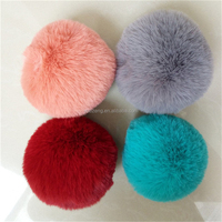 China new fashion rabbit mini faux fur pom poms