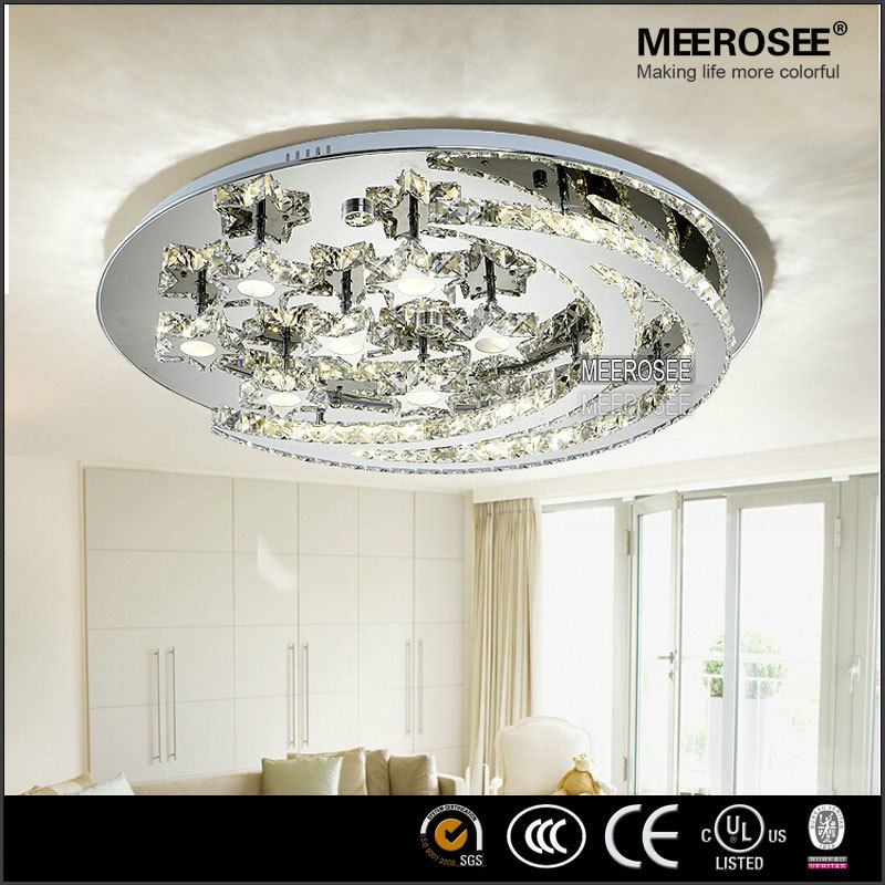 Romantic Led Ceiling Lamps Moon And Star Shape Crystal Ceiling ...