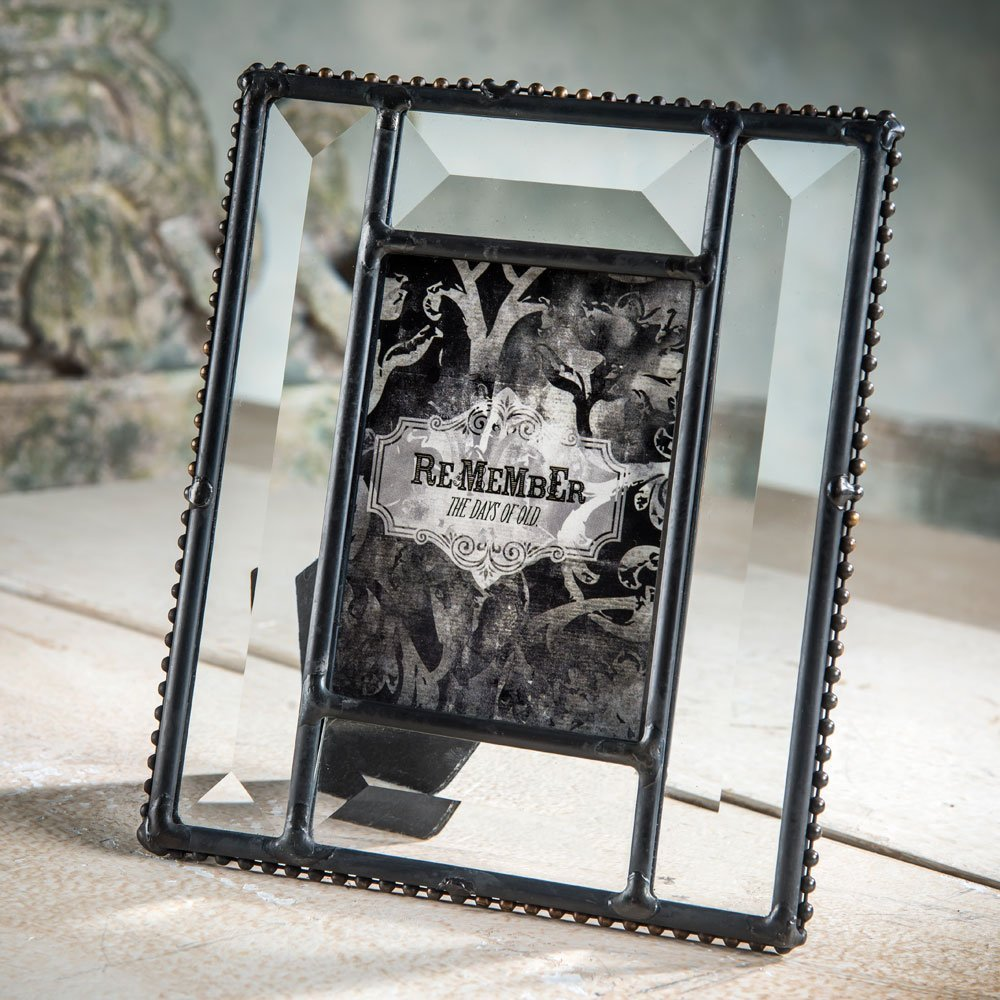 J Devlin Pic 354-2535 Beveled Glass Picture Frame Tabletop 2 1/2 x 3 1/2 School Pictures