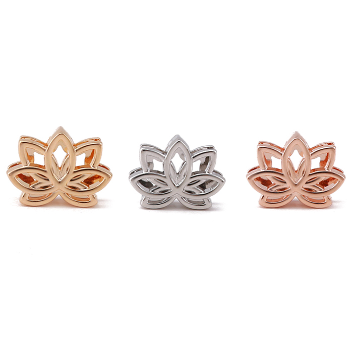 Factory Supplier High Quality Custom Alloy Lotus Flower Charm