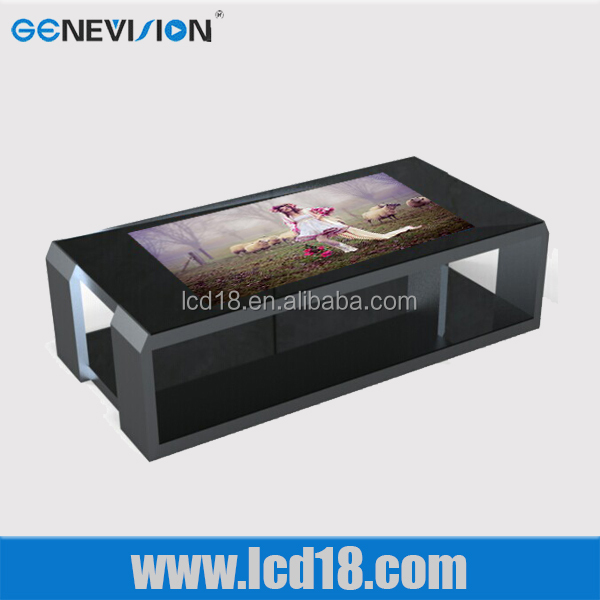 32 inch coffee table style touch screen with wifi led advertising player