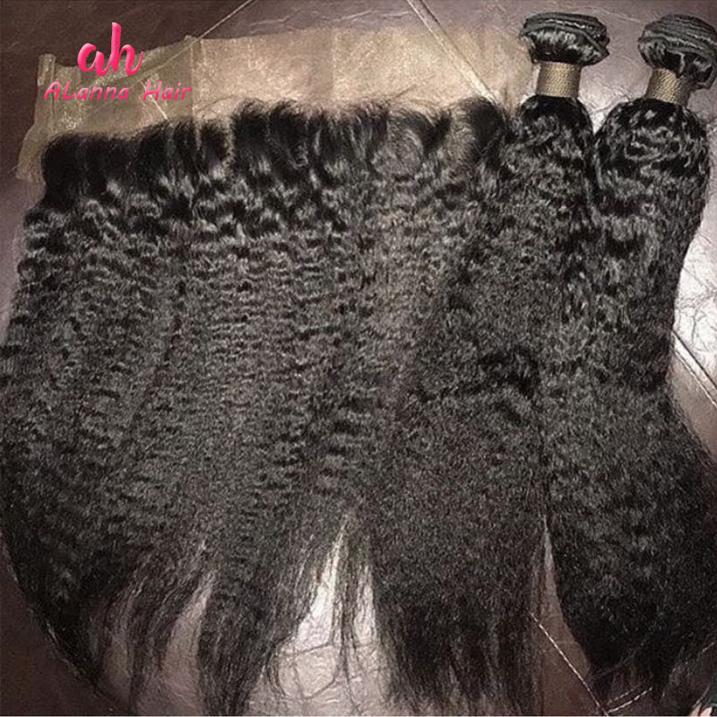 Hot Sale 10A Virgin Kinky Straight Human Hair , Mongolian Human Hair Kinky Straight Hair Extensions Weave Bundles Wholesale