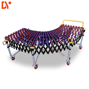 20% Cost Saving No Power Gravity Plastic Roller Skate Wheels flexible Manual Telescopic Conveyor For Warehouse