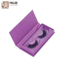 Bling custom logo cardboard coloful false eyelash printed packaging boxes