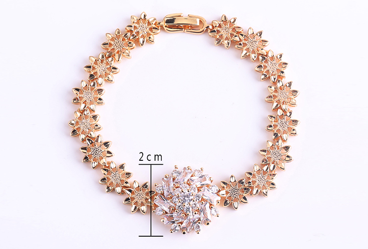 2019 New Wholesale Fashion Design Zircon Bracelet 18K Gold Jewelry For Women Girls
