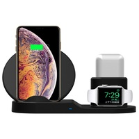 2019 hot selling N30 universal 3 in 1 wireless charger fast charge qi 10w custom table wireless charger for iphone watch phone