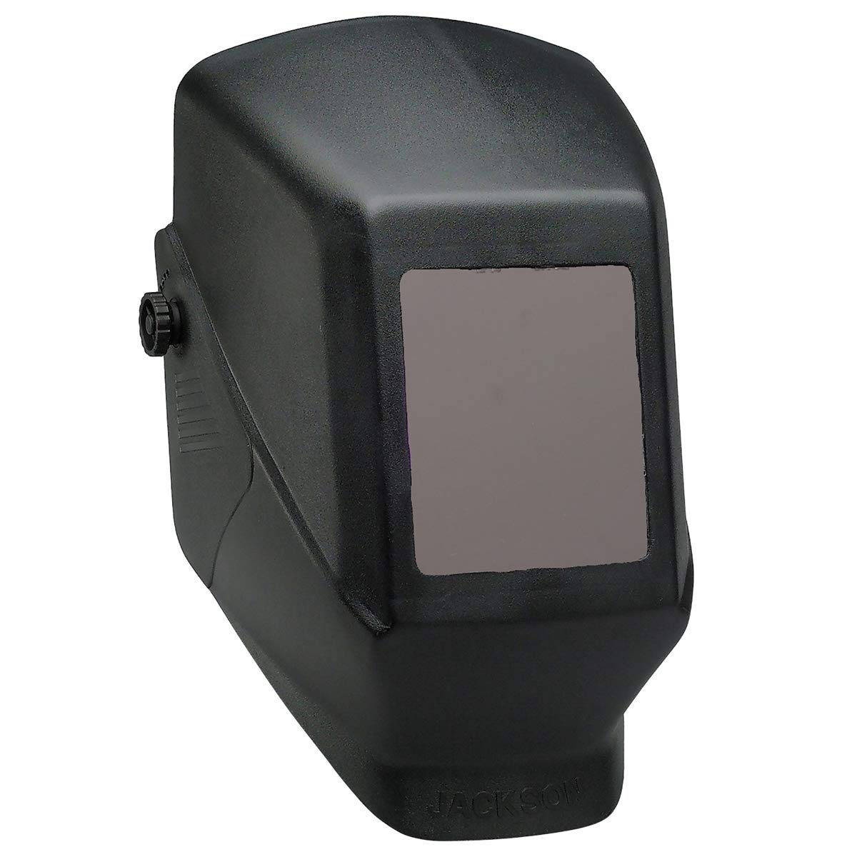 """Kimberly-Clark Professional Jackson Safety HSL 100 Black Thermoplastic Fixed Front Welding Helmet With 4 1/2"""" X 5 1/4"""" Shade 10 Lens - 48 Each/Pallet"""