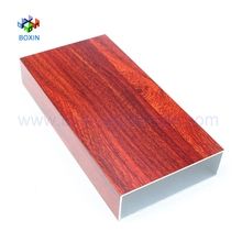 Finished wood aluminium tube building decorative aluminum profiles