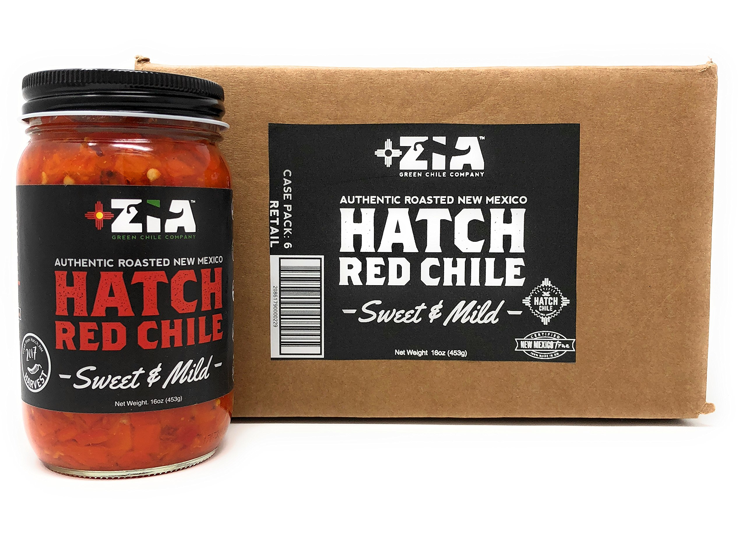 Original New Mexico Hatch Red Chile By Zia Green Chile Company - Delicious Flame-Roasted, Peeled & Diced Southwestern Certified Red Peppers For Salsas, Stews & More, Vegan & Gluten-Free - 6 Pack