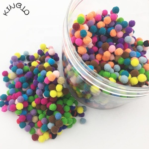 Colorful Polyester Mini 5mm Pompom