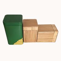 Natural bamboo wooden box, tea caddy box for gift