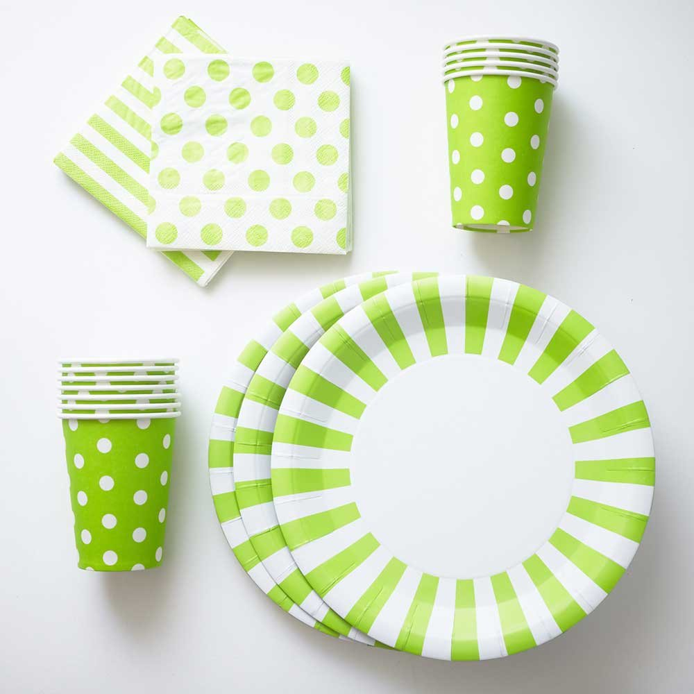 Get Quotations · Apple Green Paper Plates Cups Napkins (12) Large Stripe Plates (12) Polka  sc 1 st  Alibaba & Cheap Polka Dot Melamine Plates find Polka Dot Melamine Plates ...