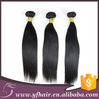 No chemicals 100 percent pure remy human hair natural Brazilian Malaysian silky straight hair type