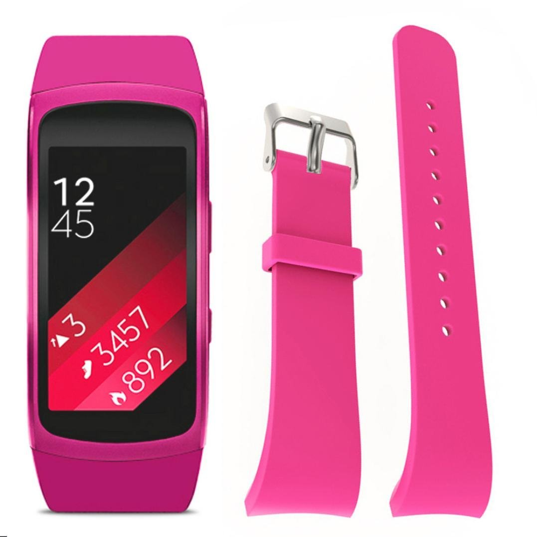 For Samsung Gear Fit 2 SM-R360 Wristband,Binmer(TM) Silicone Watch Replacement Strap Band (Pink)