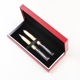 Customized gradient color changing metal ball pen and roller pen gift set with box