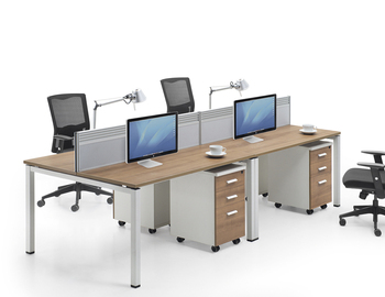 Metal Leg Modern Office 2 Leg Wooden Work Table