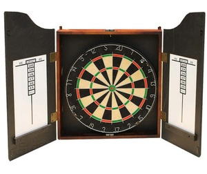 Professional Dartboard With Deluxe Cabinet Wooden Darts Colorful Sisal Bristle Fiber Dart board with Customize