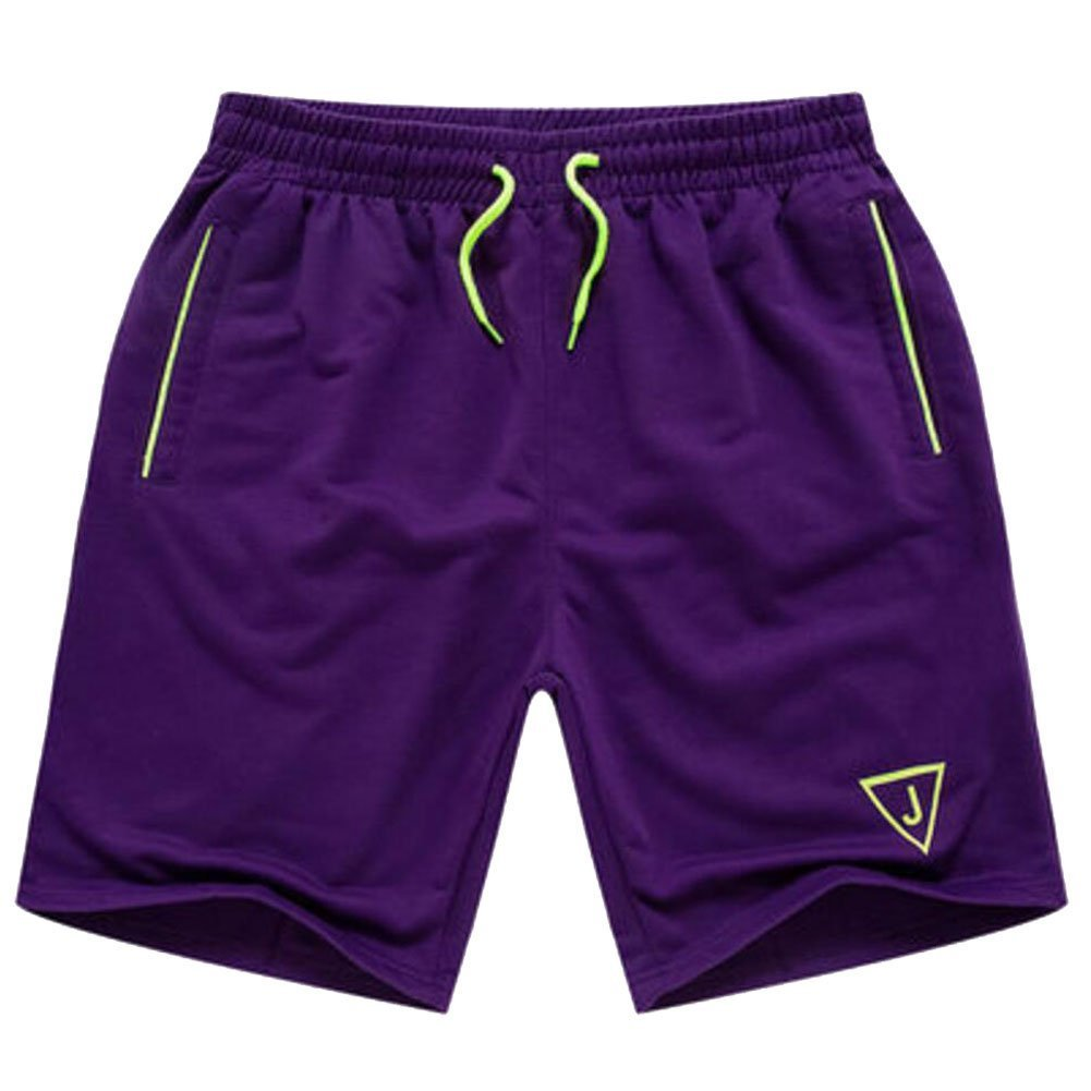 21ca100093 Get Quotations · Fashion Pants Loose Beach Shorts Men Casual Boardshorts  3XL Purple