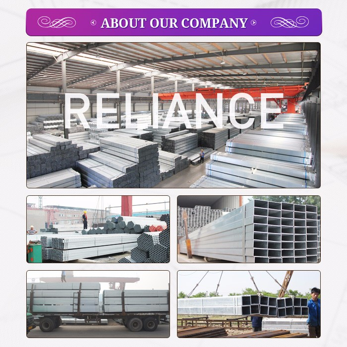 Anti rust package q235 building material hollow section for House material packages
