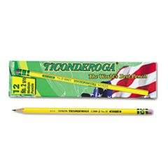 - Woodcase Pencil, F #2.5, Yellow Barrel, Dozen