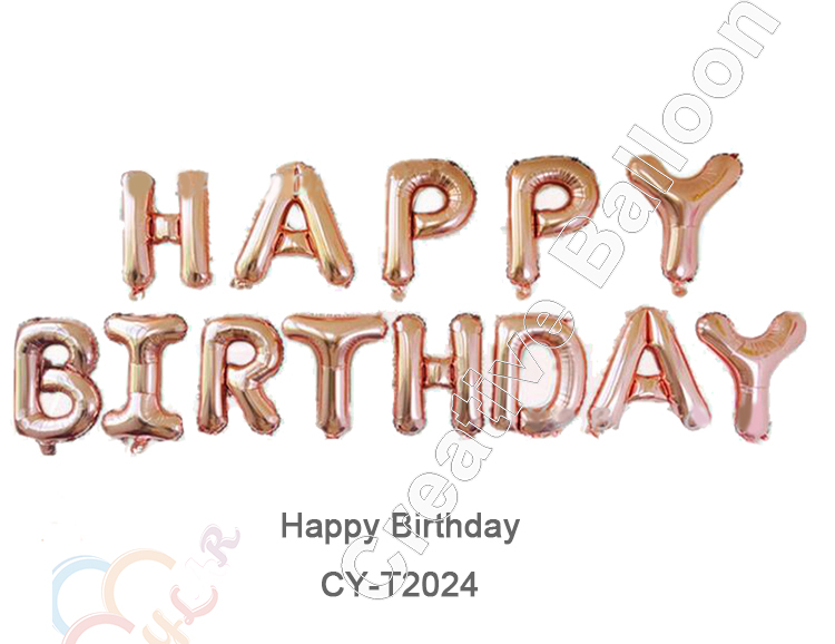 CYmylar Party Decaoration foil Rose Gold number letter balloons Hulium Happy Birthday Balloon