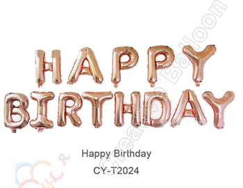 CYmylar Unicorn Party Decoration Foil Rose Gold Number Letter Balloons Hulium Happy Birthday Balloon