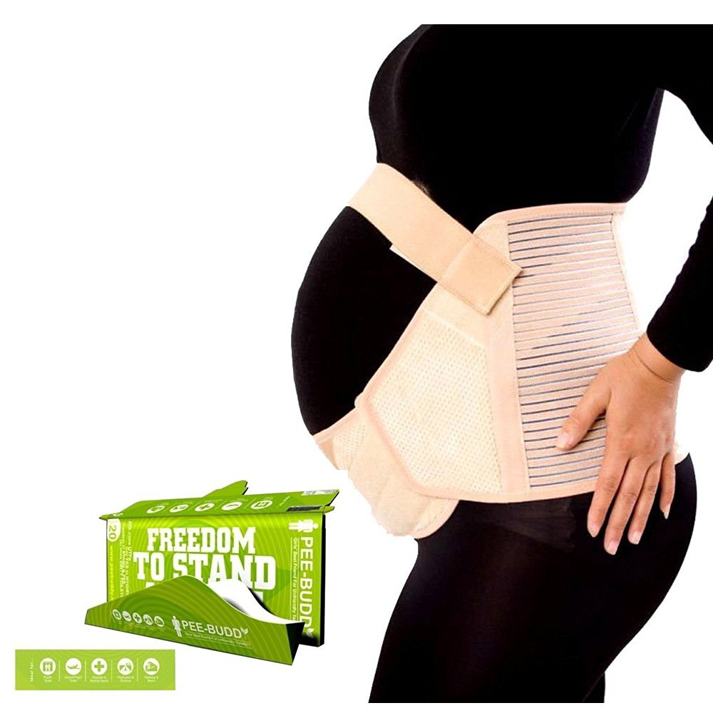 HealthAndYoga(TM) Maternity Care Basics: Maternity Belt & Pee Aid (Extra Large)