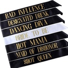 Bachelorette Party Sashes Party Favors Gifts Bridal Shower Decorations 7 pcs Bride to Be Sash Set