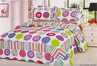 100% Cotton Bright Color Comforter Sets Hotel Plain Printed ...