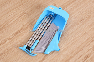 plastic broom with stainless steel pipe for household cleaning