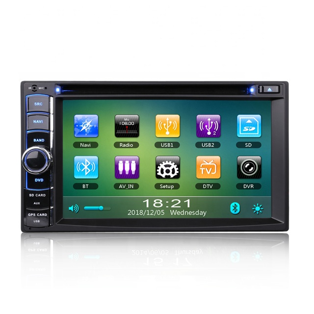 "Erisin ES790U 6.2 ""Doppio Din Autoradio 3g GPS RDS Bluetooth DVD DVB-T2 iPhone SWC USB DVR-IN Navi"