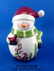 Ceramic snowman candy jar for 2017 Christmas decoration