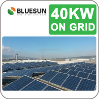high effiency on-grid 40KVA solar power plant 40kw in Bluesun China