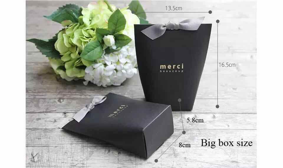 Luxury custom logo print shopping paper gift bag with ribbon handle
