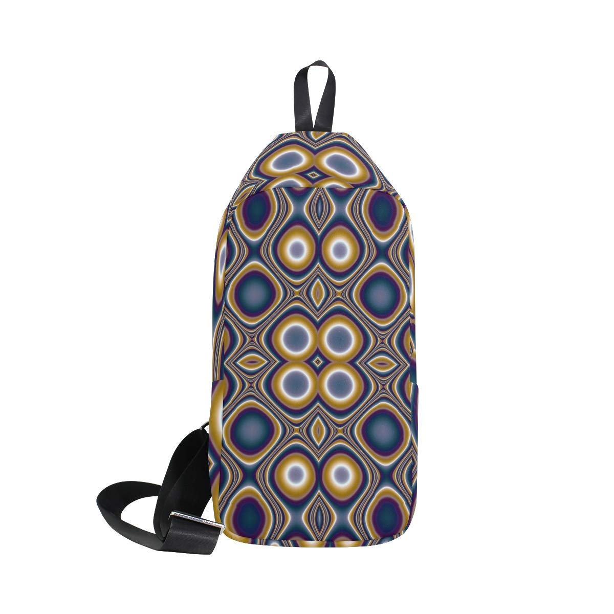 94e6ca0aff Get Quotations · LORVIES Vibrant Pattern Sling Bag Shoulder Chest Cross  Body Backpack Lightweight Casual Daypack for Men Women