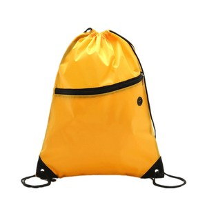 Cheap custom cinch no minimum draw string backpack non woven bags