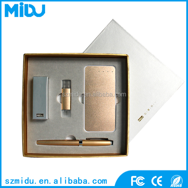 MIDU M-IUB01 OEM Business Stationary Pen With 5000mAh Power Bank Gift Items