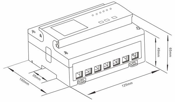 three phase 4 wire electricity meter sdm530-modbus mid energy meter