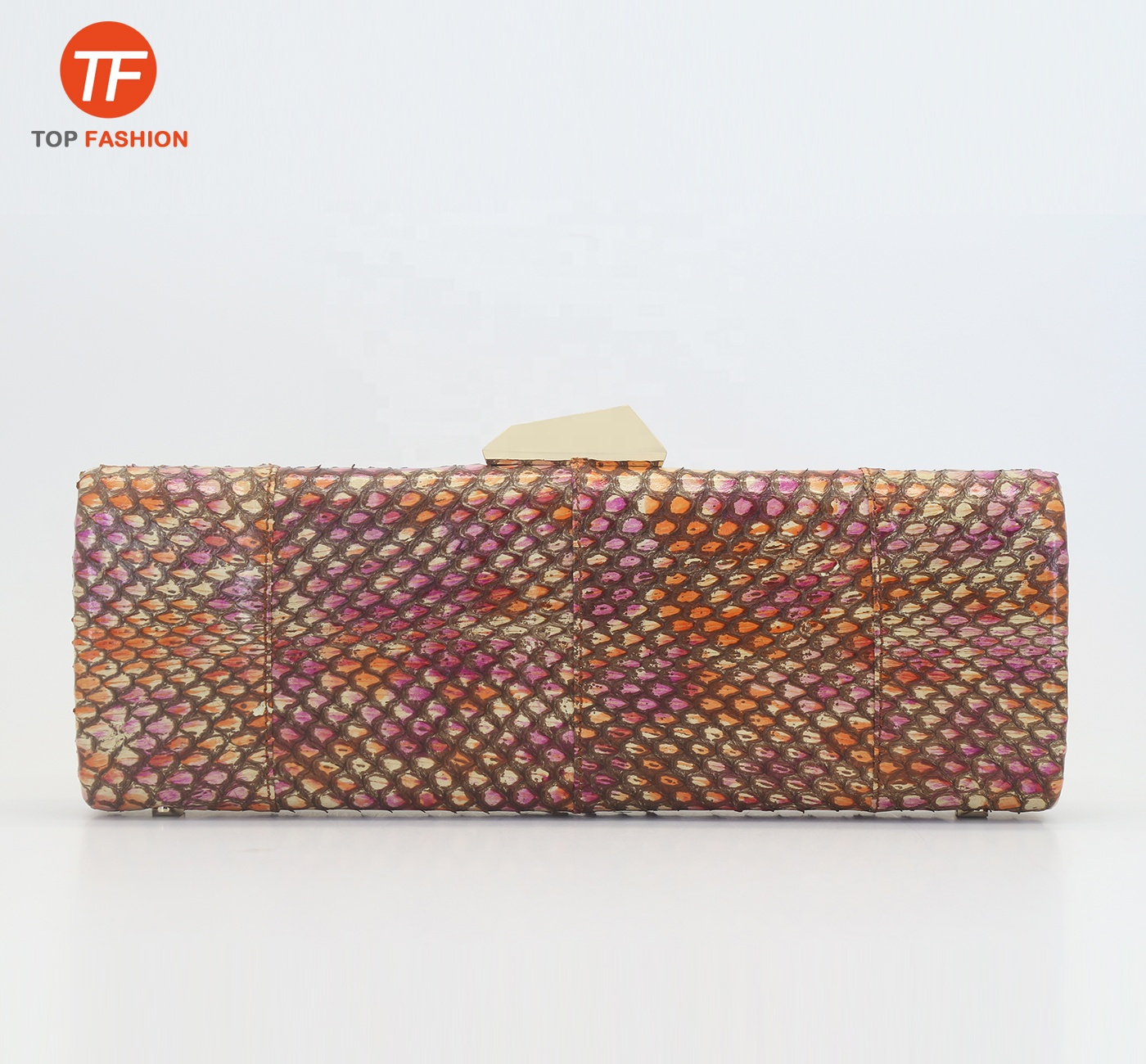 2019 New Red Snake Skin Women <strong>Clutch</strong> Purse Python Evening Bag from China Supplier
