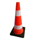 3.2kg 2 reflective stripes black base pvc 70cm traffic cone