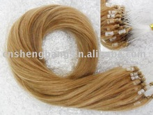Micro-ring Hair extension indian hair ,micro-Ring hair extension