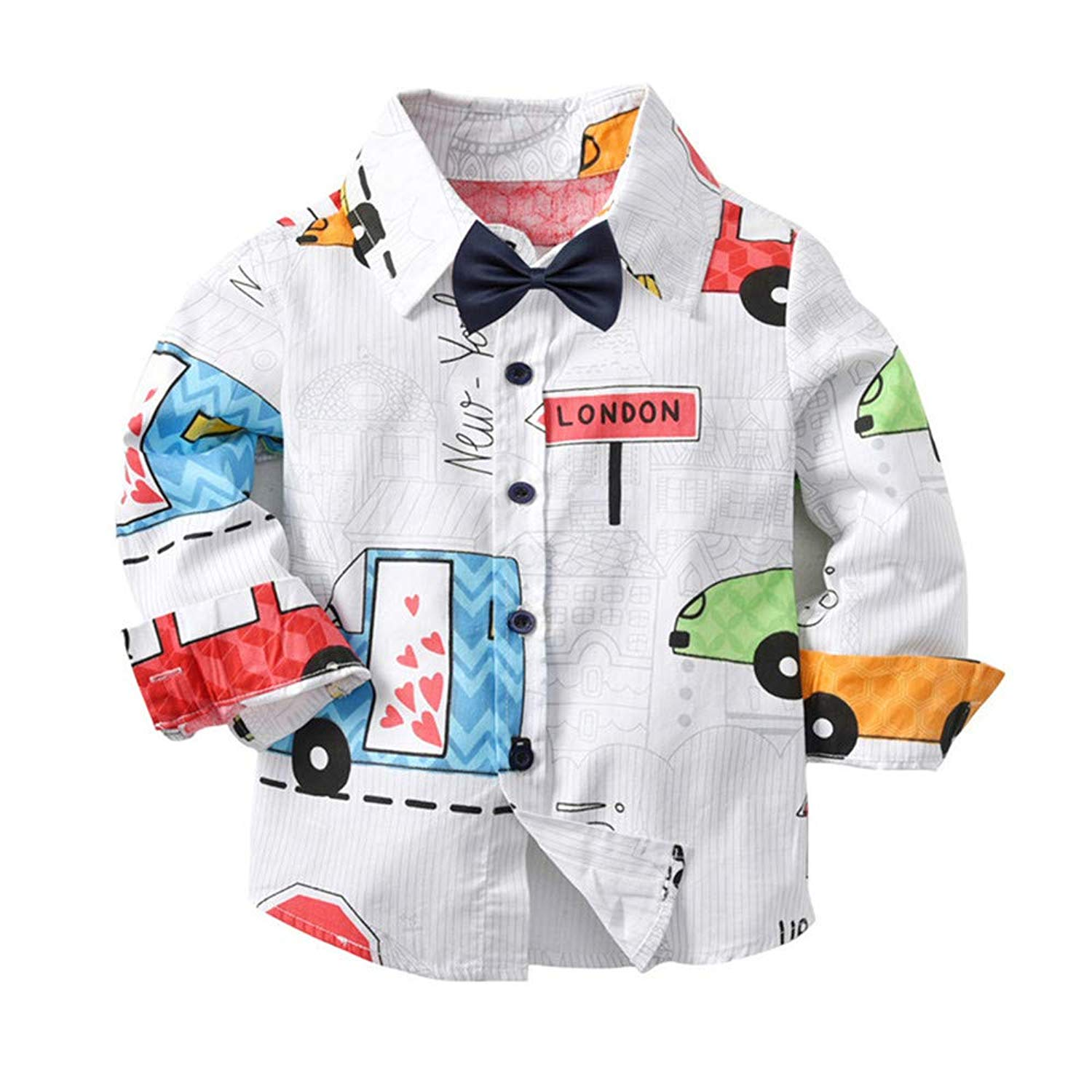 dc381193d98 Get Quotations · Moonper Toddler Infant Baby Boys Girls Winter Autumn Warm  Long Sleeves Gentleman Tops Tie Clothes with