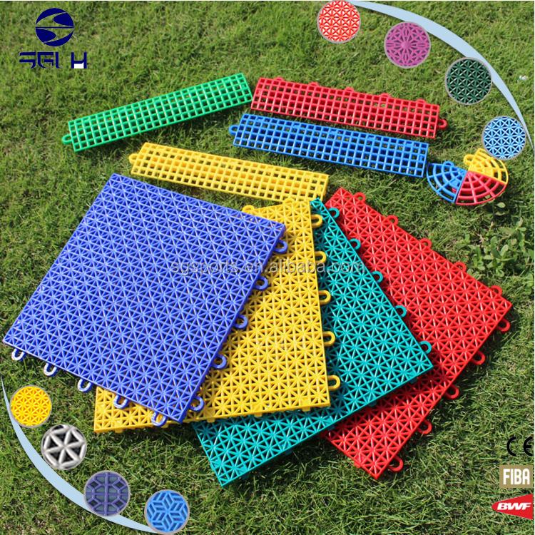 Pp piastrelle ad incastro di plastica sport all 39 aria aperta in filippine pavimento di plastica - Piastrelle ad incastro ...
