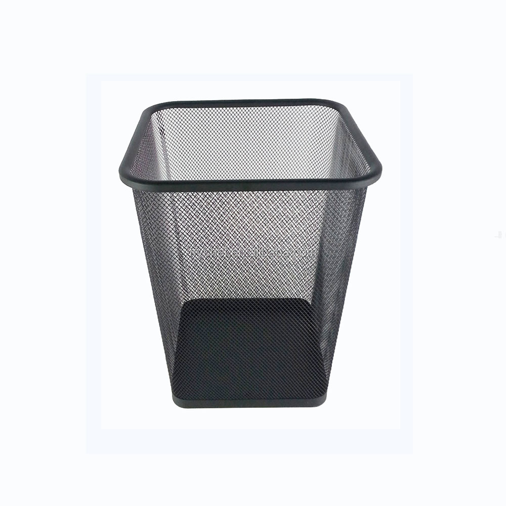 Trash Bin Metal Wire Mesh Garbage Bin Indoor Dustbin Office Waste ...